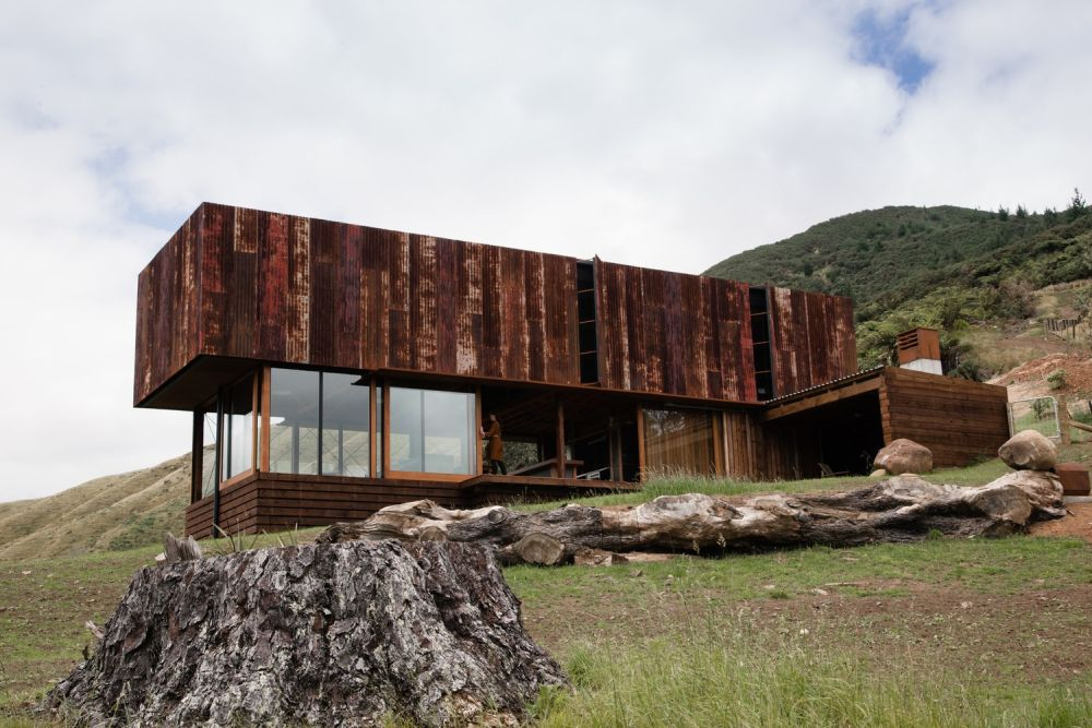 Mountain K Valley House Exterior from Corten